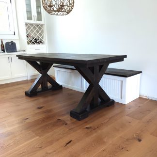 6foot Trestlle Leg Harvest Table with matching Country-Style-Bench