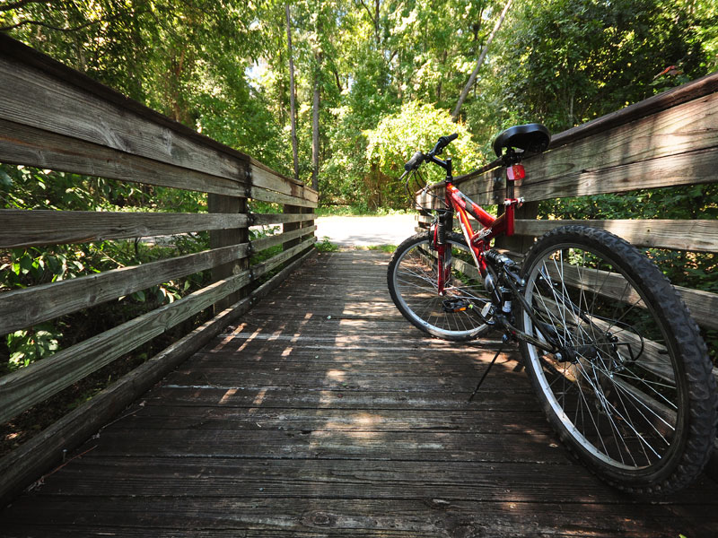 Cycling Ontario's newly constructed historic heritage Kawartha Trans Canada Trail