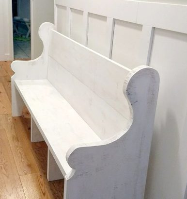 Whitewashed Church Pew