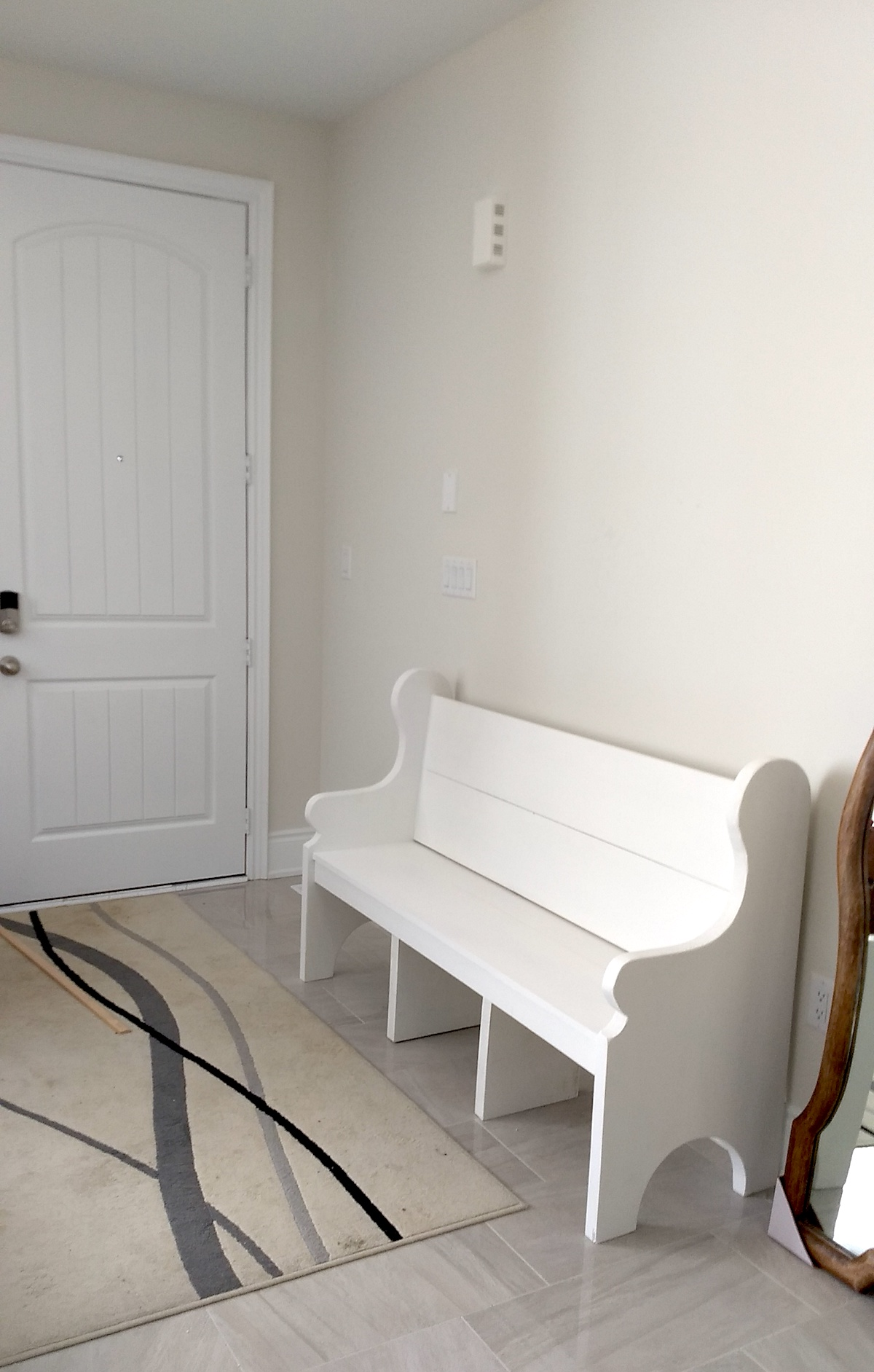 5-Foot Whitewashed Bench