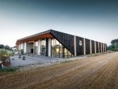Modern innovative timber winery mixes Japanese and Viennese influences
