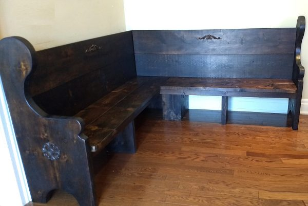 Custom 7 Foot Corner Bench